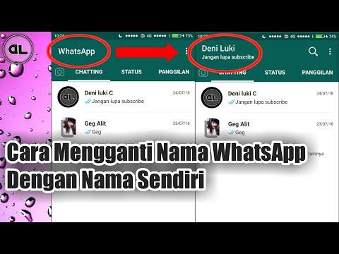 Cara Mengganti Nama WhatsApp Menjadi Nama Sendiri
