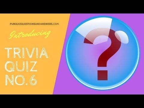Pub Quiz Questions and Answers - Trivia Quiz 6