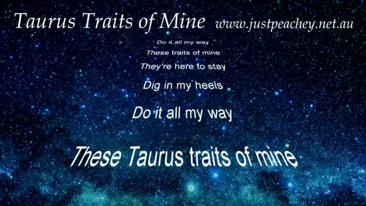 Taurus Star Sign (character traits song) by Just Peachey ...