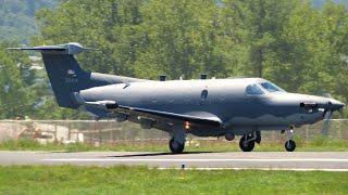 USAF Pilatus U-28A Landing at AVL