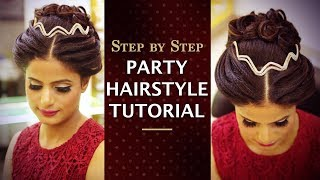 Party Hairstyle in 5 Minutes | Step By Step Easy Party Hairstyle Tutorial For Beginners | Khoobsurat