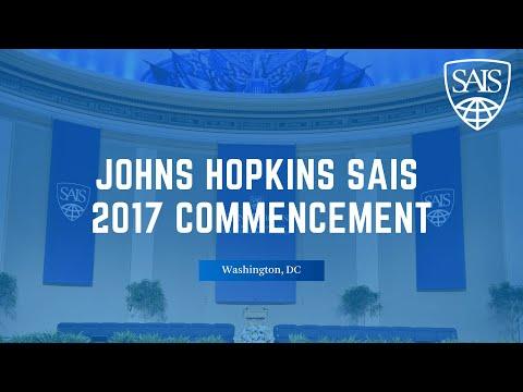 Johns Hopkins SAIS 2017 Commencement Ceremony