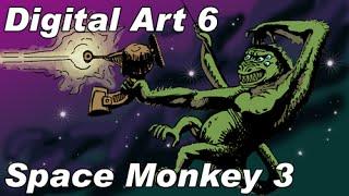 Digital Art 06 : Space Monkey 03
