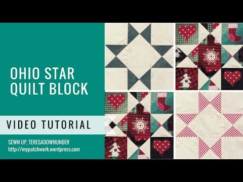Video tutorial: Ohio star quilt block