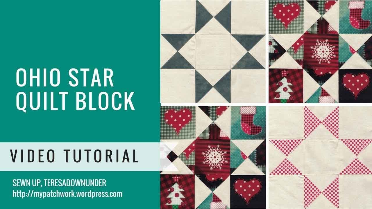 Video tutorial: Ohio star quilt block - YouTube : quilt video - Adamdwight.com