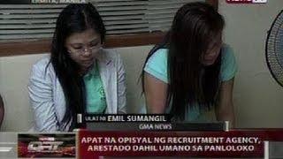 QRT: Apat na opisyal ng recruitment agency, arestado dahil umano sa panloloko