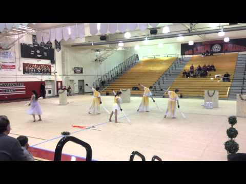 Whittier christian high school winter guard Standing Still 2015 Championships