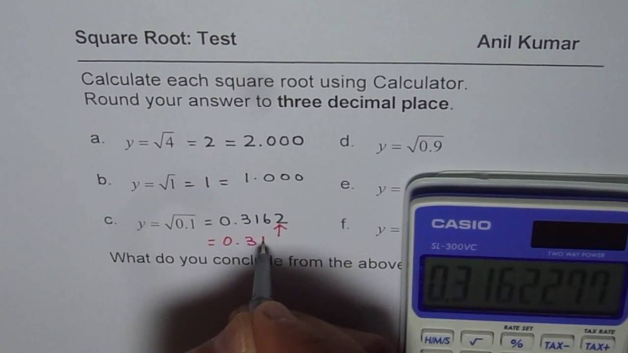 Square Root of Decimal Numbers Can Be Larger - YouTube