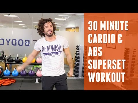 30 Minute Cardio & Abs Superset Workout | The Body Coach