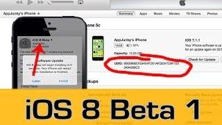 iOS 8 Beta 1 - UDID - installieren (Deutsch/German)