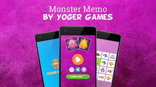 Kids Monster Matching Game for toddlers, boys and girls of any age