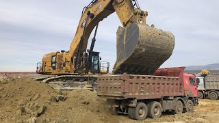 Cat 6015B Excavator Loading Trucks With Two Passes - Sotiriadis/Labrianidis Mining