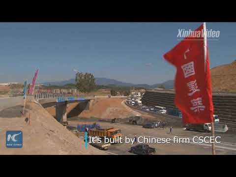 Alegria's traffic artery takes shape! Chinese-built section of major highway opens to traffic