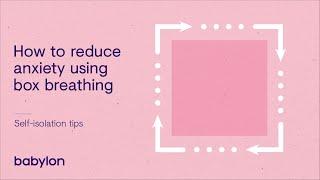 Coronavirus mental health tips| Reduce anxiety using the box breathing method