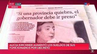 """""""A.Kirchner se aumentó el sueldo por decreto"""" en """"TN Central"""", de Wiñazki y Geuna - 09/02/17"""