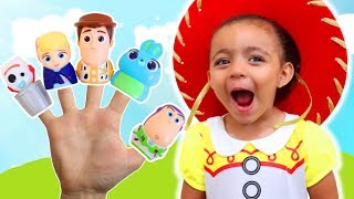Finger Family Song   Learn Characters with the Toy Story 4 Finger Family Nursery Rhymes Song