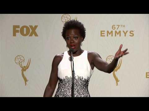 Viola Davis Backstage Emmys 2015