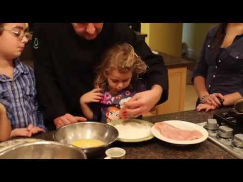 How to Bread Chicken Cutlets, Get your kids cooking with Gino's Family