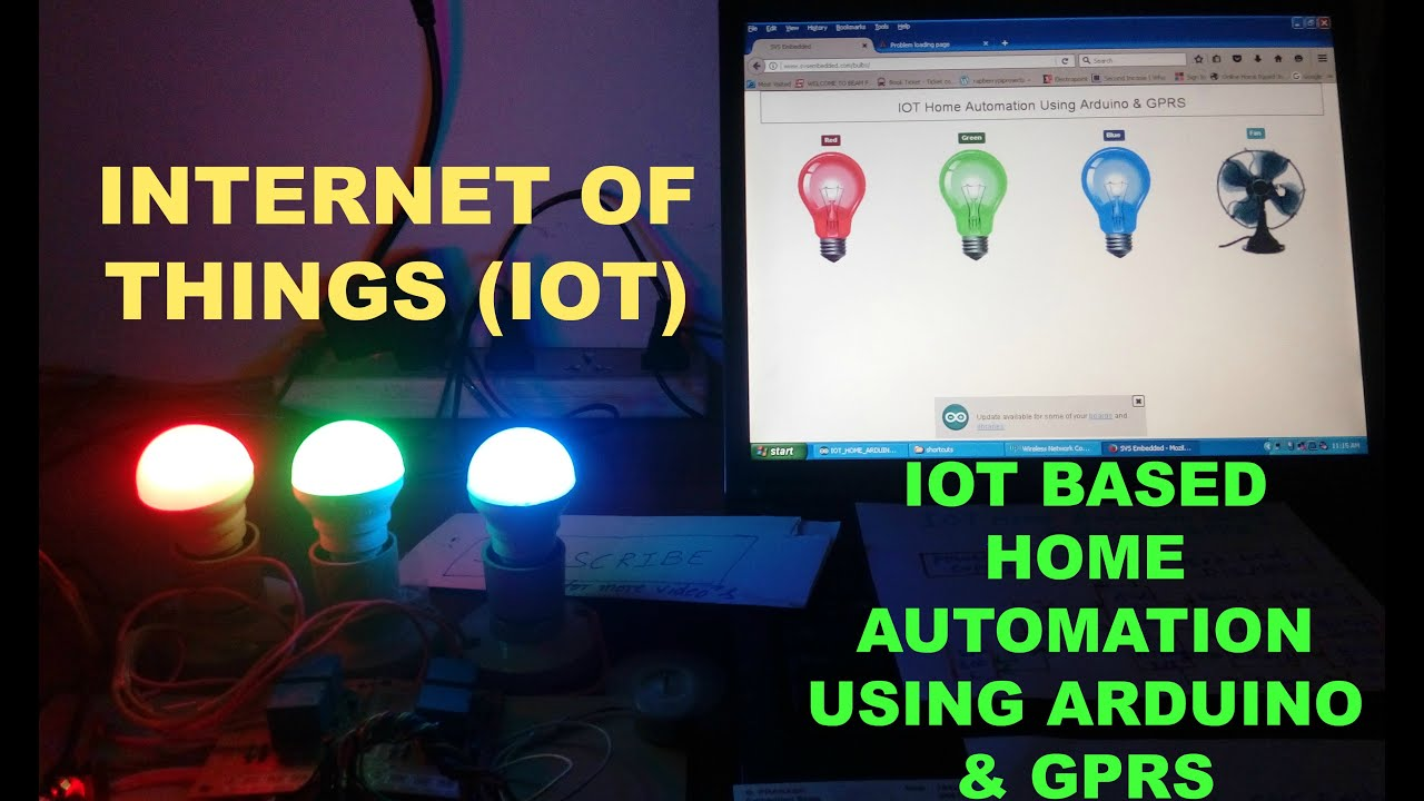 iot home automation using arduino youtube