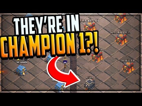 HOW Is This In CHAMPION I In Clash Of Clans Clan War Leagues?!