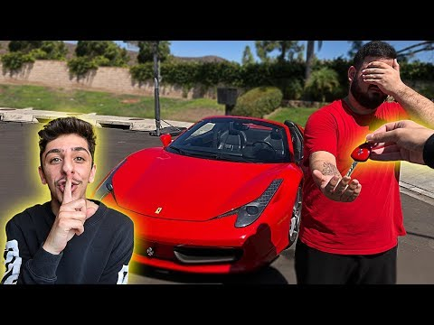 I stole his car.. then surprised him with his DREAM SUPER CA