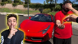 Download I stole his car.. then surprised him with his DREAM SUPER CAR!! Mp3 and Videos