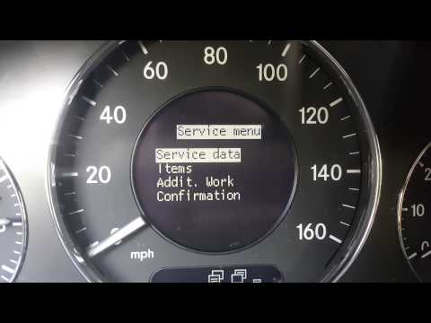 Setting Clock For Mercedes Benz  E