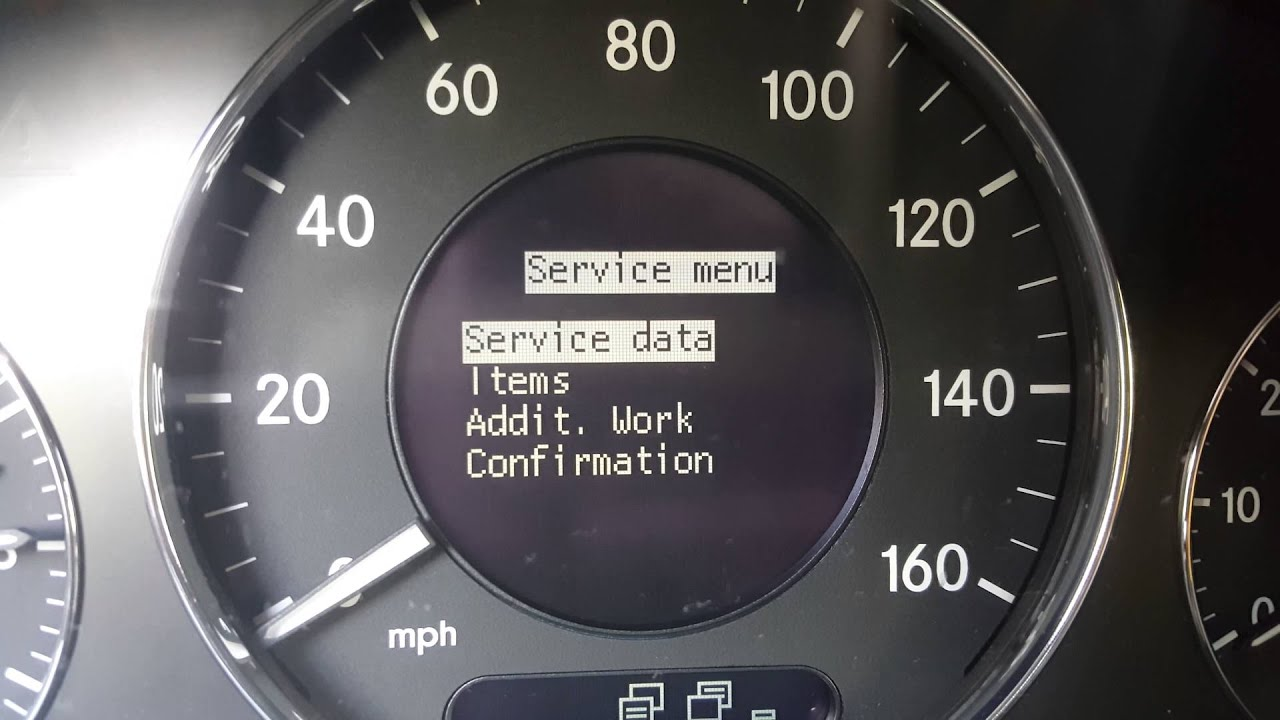 02 08 mercedes benz e320 oil change service warning reset for Mercedes benz oil change service