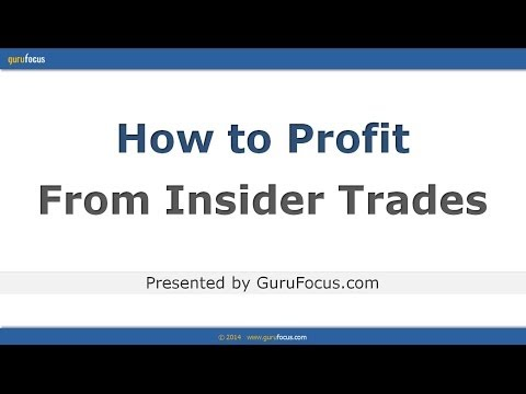 How to Profit From Insider Trades