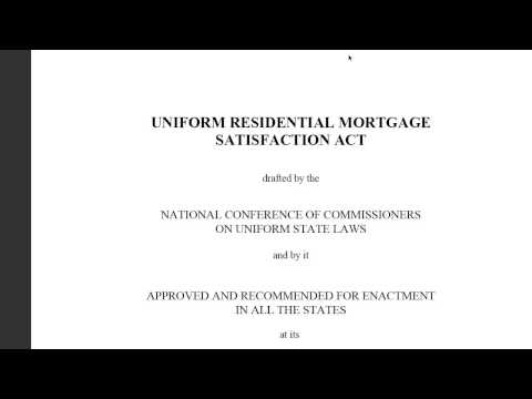 Satisfying your Mortgage Deed, by Affidavit