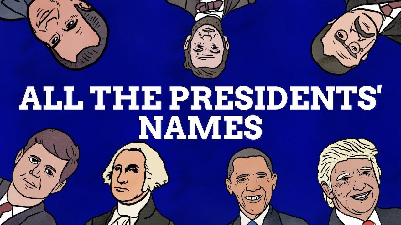 A Breakdown Of The U S Presidents Names Youtube
