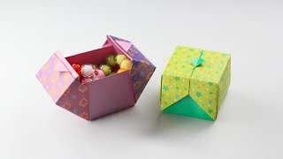origami box,상자접기,종이접기,origami,(Designed by SWEET PAPER)