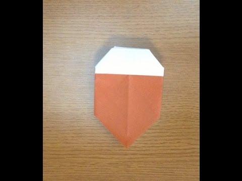 ハート 折り紙:折り紙 どんぐり 折り方-youtube.com