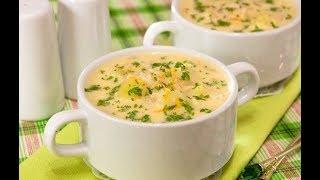 Куриный суп с плавленным сыром.Английский суп.Простой рецепт.