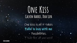 Calvin Harris, Dua Lipa - One Kiss (Lyrics)
