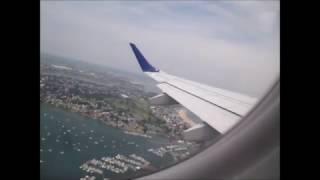 Jetblue ERJ-190 Taxi and Takeoff from Logan Intl. Airport