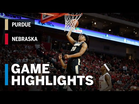 Highlights: Eifert Hits Two Clutch Baskets in Boiler Win | Purdue at Nebraska |  B1G Basketball