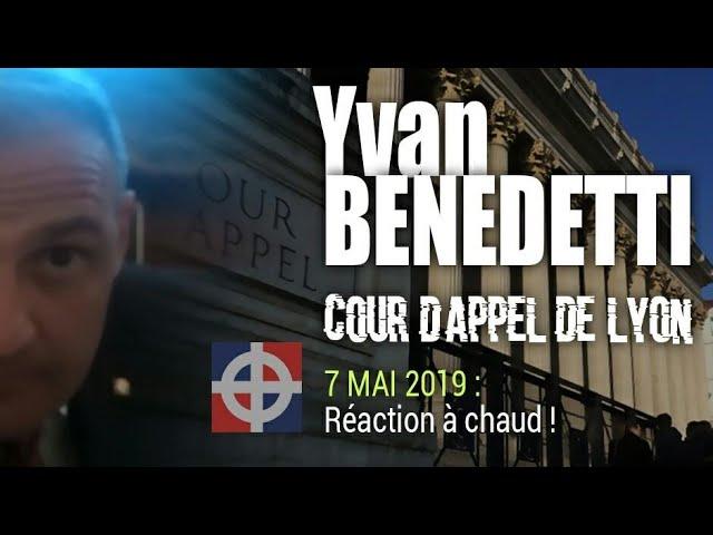 Yvan BENEDETTI au sortir de la Cour d'Appel