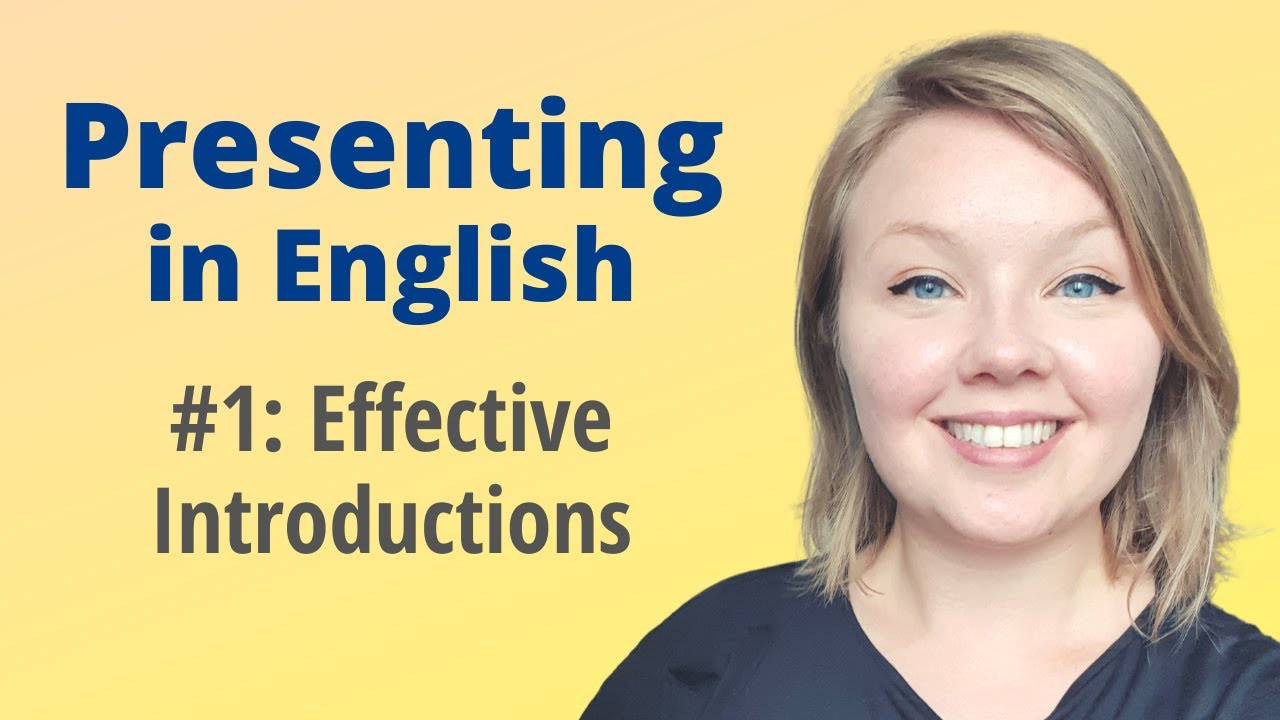 Learn English about Presentation Introductions.