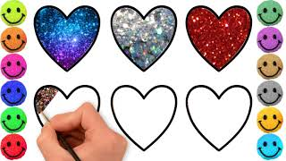 How To Drawing Hearts For Baby Learn| Kids  Drawing & Coloring Pages|.