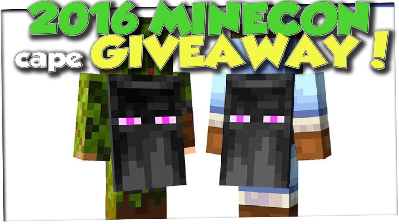 2016 Minecon Cape Giveaway Youtube