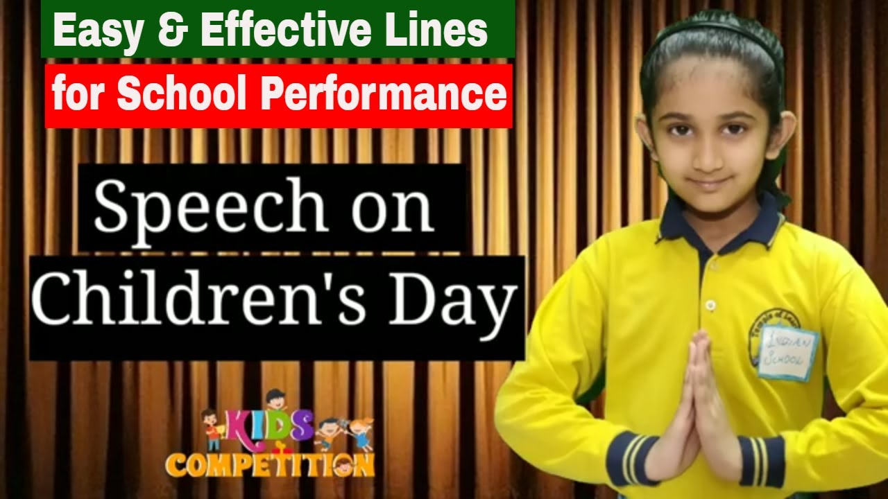 Download Children's Day Speech | Lines for Speech on Childrens Day & Bal Diwas in English