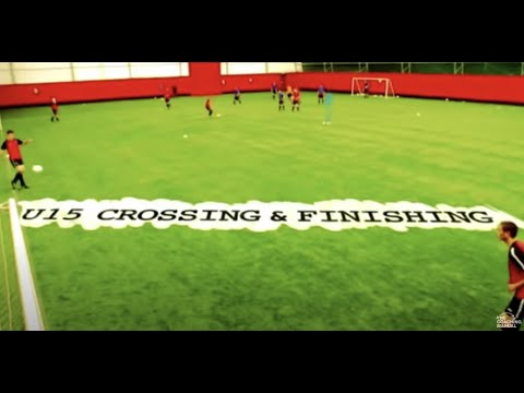 Soccer Drills: Crossing & Finishing U15