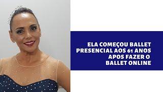 Ela faz Ballet OnLine aos 61 anos de Idade