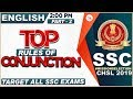 Top Rules of Conjunction | Part 2 | SSC CHSL Class 2019 | English | 2:00 PM