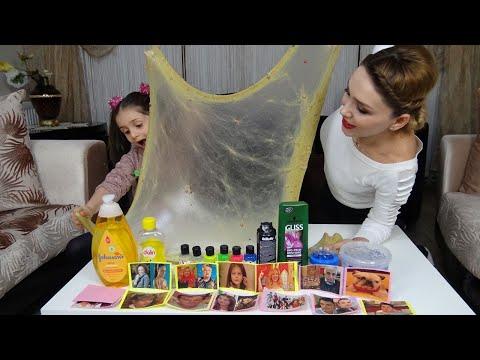 Lina İle Sihirli Annem Karakterlerinden Ne Çıkarsa Slime Challenge Yaptık Kiminki Güzel Oldu