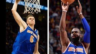 Kristaps Porzingis & Tim Hardaway Jr. Combine for 66 Points vs. The Cleveland Cavaliers