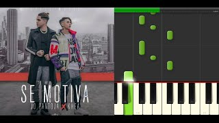 JD Pantoja & Khea - Se Motiva PIANO TUTORIAL MIDI SYNTHESIA