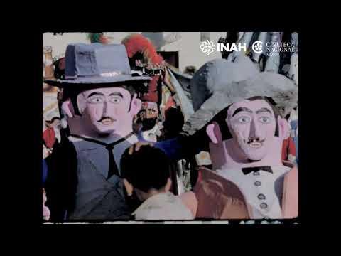 Carnaval en Tepoztlán, 1961. Dirección: Alfonso Muñoz Película de acetato 16 mm.