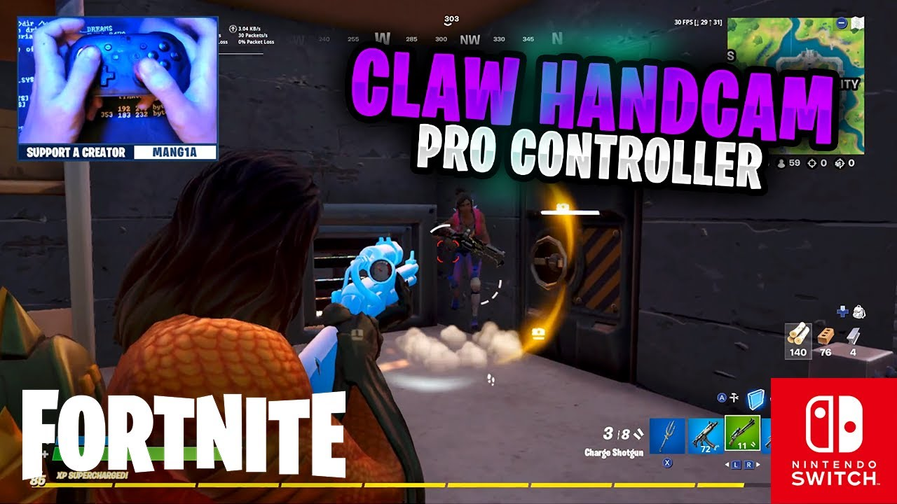 CLAW HANDCAM - Fortnite on the Nintendo Switch Pro Controller #76